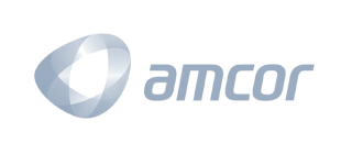 Amcor logo, kezzler partner.